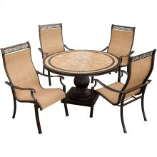 Monaco 5 Piece Outdoor Dining Set