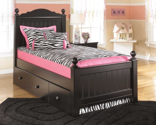 Jaidyn - Black 6 Piece Bed Set (Twin)
