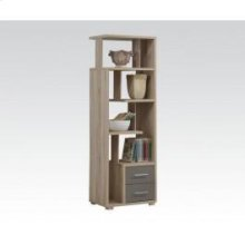 Light Oak Bookcase W/2 Drws