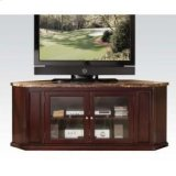 Espresso TV Stand W/faux Marbl Product Image