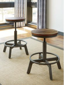 Torjin - Two-tone Brown Set Of 2 Dining Room Barstools