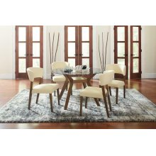 Paxton Mid-century Modern Glass Five-piece Dining Table Set