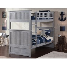 Nantucket Bunk Bed Twin over Twin in Driftwood Grey