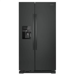 AMANA33-inch Side-by-Side Refrigerator with Dual Pad External Ice and Water Dispenser - Black