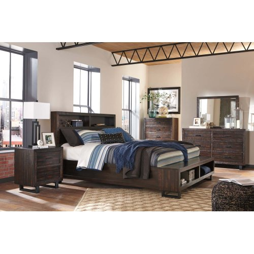 Parlone - Dark Brown 2 Piece Bedroom Set
