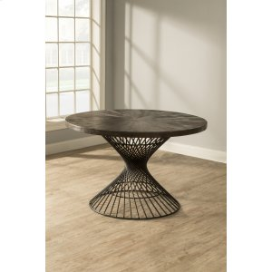 Hillsdale FurnitureKanister Round Dining Table - Dark Pewter With Weathered Walnut Top