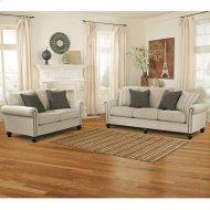 Signature Design by Ashley Milari Living Room Set in Linen