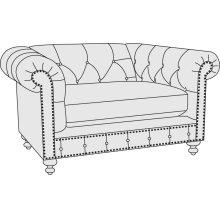 London Club Chair 1/2 in Mocha (751)
