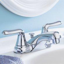 Colony Soft 2-Handle 4 Inch Centerset Bathroom Faucet Non-Metallic Pop Up Drain - Polished Chrome