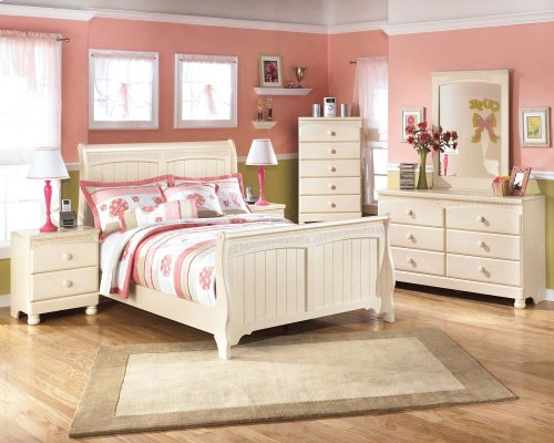Cottage Retreat - Cream Cottage 3 Piece Bed Set (Full)