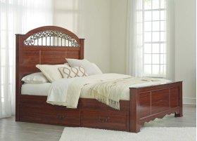 Fairbrooks Estate - Reddish Brown 4 Piece Bed Set (Queen)