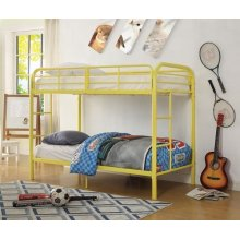 YELLOW TWIN/TWIN BUNK BED