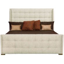 Queen-Sized Soho Luxe Upholstered Sleigh Bed