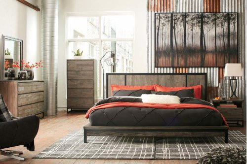 Cazentine - Grayish Brown 2 Piece Bed Set (King)