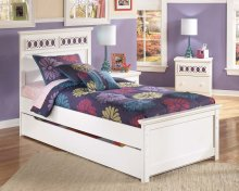 Zayley - White 5 Piece Bed Set (Twin)