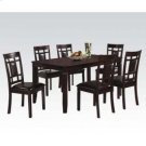 Espresso 7pc Pack Dining Set Product Image