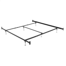 Fashion Bed Rails 10061 Brass Bed Frame System with Bolt-On Headboard Brackets and (6) Adjustable Leg Glides, Queen / King