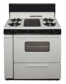 36 in. Freestanding Battery-Generated Spark Ignition Gas Range in Biscuit Product Image