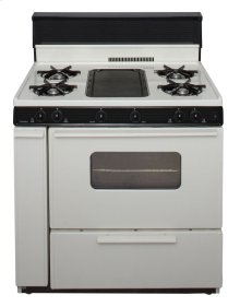 36 in. Freestanding Battery-Generated Spark Ignition Gas Range in Biscuit
