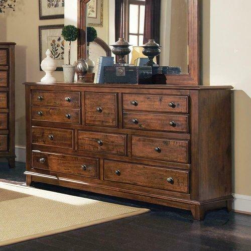Laughton Rustic Eight-drawer Dresser