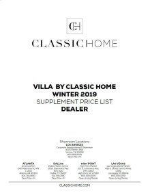 2019 Villa Supp Winter Pricelist - Dealer