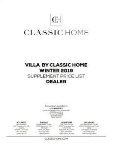 2019 Villa Supp Winter Pricelist - Dealer Product Image