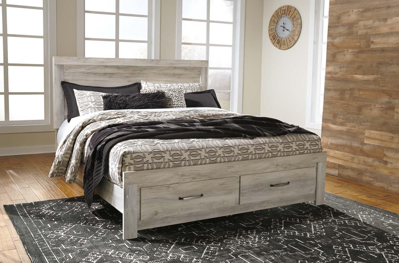 Bellaby   Whitewash 4 Piece Bed Set (King)