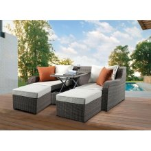SOFA BED W/COFFEE TABLE