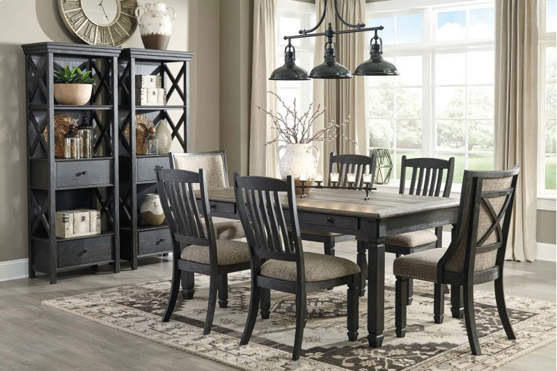 Tyler Creek Black Gray 7 Piece Dining Room Set