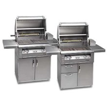 "All Infrared 30"" grill on cart with doors"