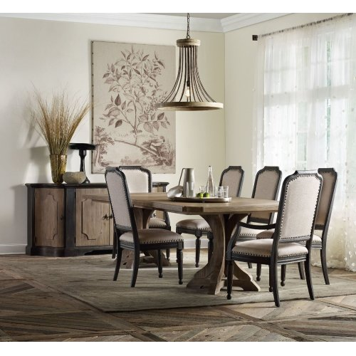 Dining Room Rectangle Pedestal Dining Top With 2-20in Leaves