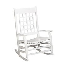 Slat Rocker in White Matte