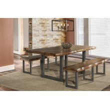 Emerson 3-piece Rectangle Dining Set With Two (2) Benches - Natural Sheesham