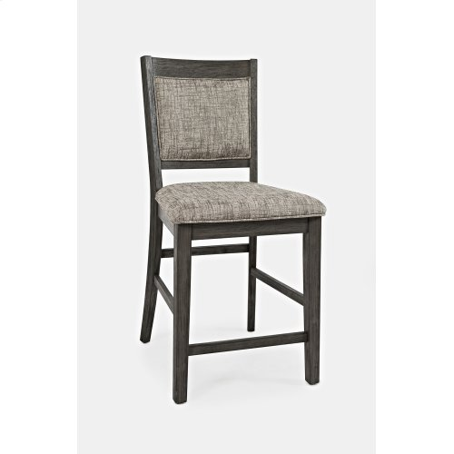 Altamonte Ladderback Counter Stool - Brushed Grey