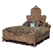 Cal King Panel Bed W/brown Fabric Product Image