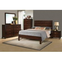 Cameron Transitional Rich Brown Queen Four-piece Set