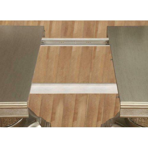 Danette Metallic Five-piece Double Pedestal Dining Set