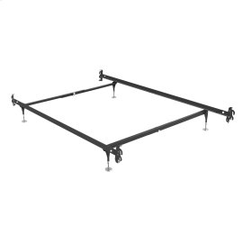 Fashion Rails Brass Bed Frame System 1004H with Hook-On Headboard Brackets and (4) Adjustable Leg Glides, Twin - Full