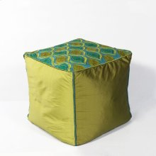 "F811 Teal/green Tribeca Pouf 18"" X 18"" X 18"""
