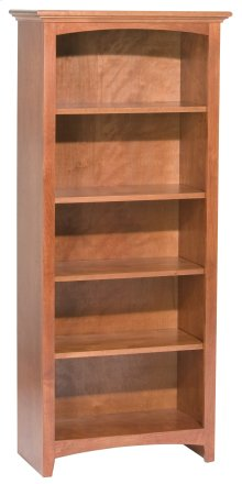 "GAC 60""H x 24""W McKenzie Alder Bookcase in Antique Cherry Finish"