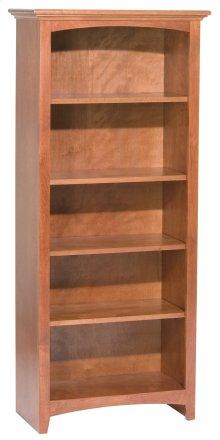 """GAC 60""""H x 24""""W McKenzie Alder Bookcase in Antique Cherry Finish"""