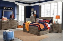 Javarin - Grayish Brown 3 Piece Bed Set (Full)