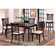 Bayberry 5pc Rectangle Dining Set With Server- Dark Cherry