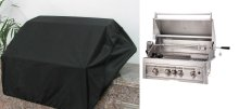 Weather Proof Grill Cover for 4 Burners, 34-Inch