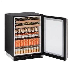 """U-Line1024bev 24"""" Beverage Center With Stainless Frame Finish (115 V/60 Hz Volts /60 Hz Hz)"""