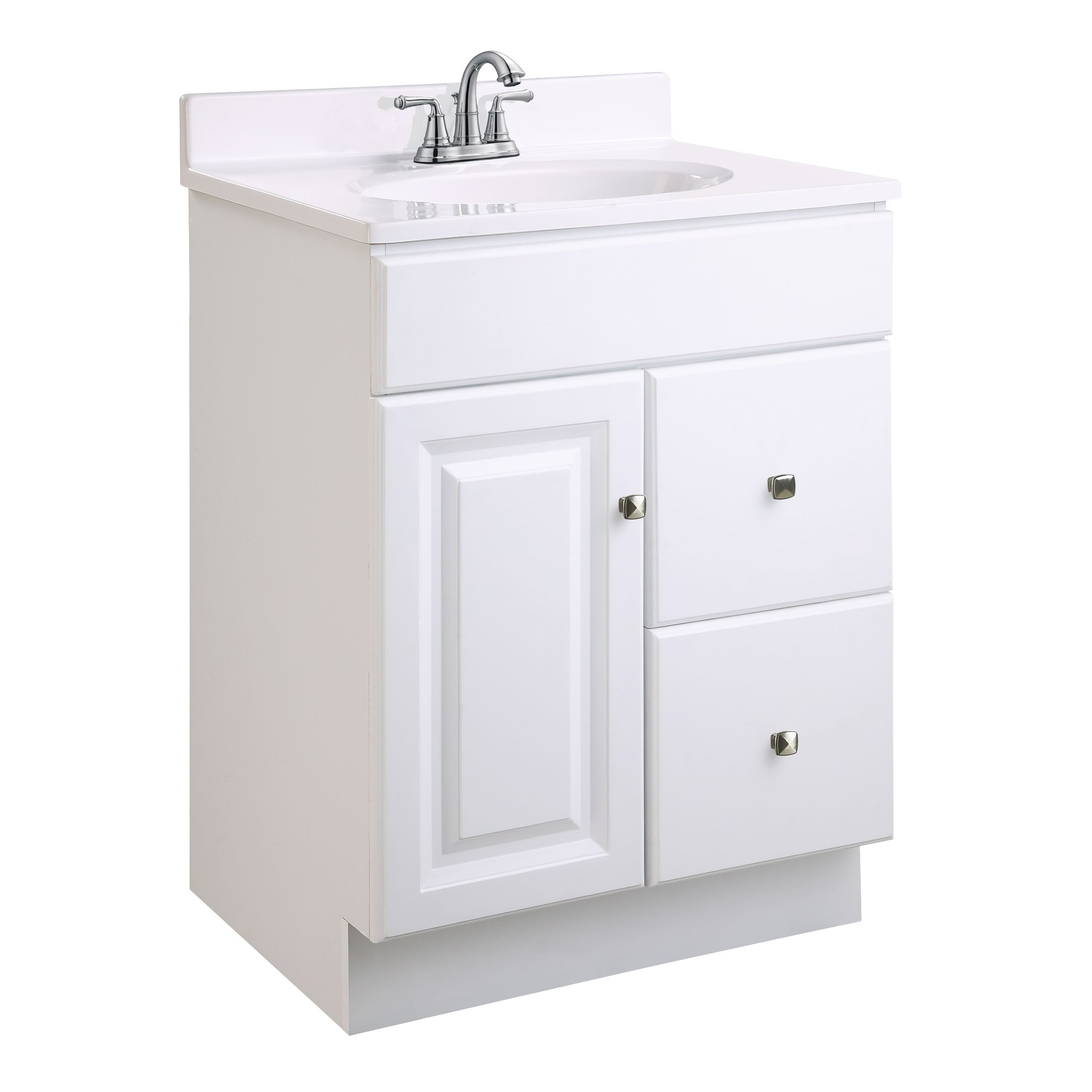 "Wyndham Vanity with 1-Door and 2-Drawers 24"", White #545004"