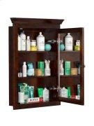 Transitional Solid Wood Framed Medicine Cabinet in Vintage Walnut Product Image