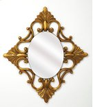 Add an elegant touch to any space with this ornate wall mirror. Made with a Antique Gold finish polyurethane frame, this charming design showcases a timeless oval silhouette and elegant detailing. Establish a traditional French aesthetic in your living Product Image
