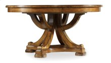 "Dining Room Tynecastle Round Pedestal Dining Table with One 18"" Leaf"