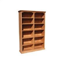 """Traditional Alder 48"""" Standard Bookcase"""